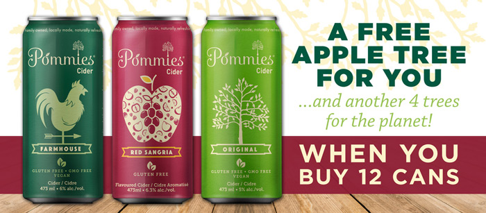 Get a free apple tree when you buy 12 cans